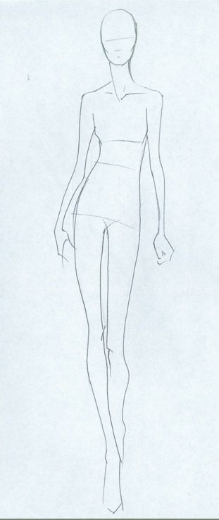 How To Draw Clothes Using Croquis As A Fashion Design Orna